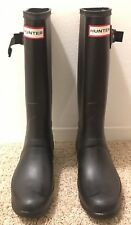 NEW Hunter Original Tall Rain Boots Matte BLACK Womens Size 8 Extended Calf NIB!