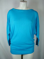 Michael Stars Women's Bright Blue 3/4 Sleeve Dolman Top Blouse Shirt One Size OS