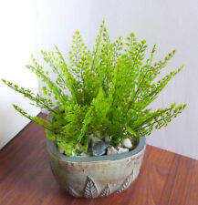 4 Artificial Plastic Plants Celery Leaves Grasses