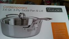 Viking Contemporary 3-Ply - 3.6 Qt. Saute Pan w/Lid Brand New