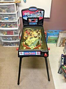 Rare Hasbro Monopoly Pinball Machine with Legs