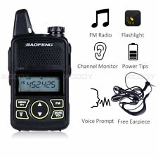 Baofeng BF-T1 Walkie Talkie Auriculares UHF 400-470MHz FM Radio 16 canales VOX