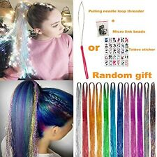 Hair Tinsel with Tools 12 Colors 2000 Strands Hair Tinsel Kit up to 46 Inch Long