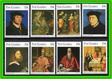 GAMBIA = PAINTINGS: HOLBEIN, TITIAN, EL GRECO, CORREGGIO  MNH RELIGION, COSTUMES