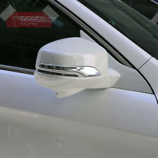 Door Side Back Mirror Chrome Trim For Honda Accord MK9 2013 2014 2015 2016 2017