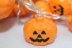 15 ft, 30 Halloween Pumpkin Lights Orange String Lights Pumpkin Yellow NEW