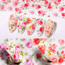 10 Sheets Nail Art Foils Stickers Mixed Flower Series Transfer Decals Decoration
