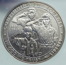 2001 USA United States BOY SCOUTS OF AMERICA Antique Silver Dollar ICG i86677