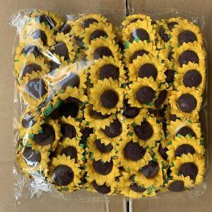 10pcs Craft Artificial Paper Flower Sunflower Flower Gift Diy Decor Scrapbooking