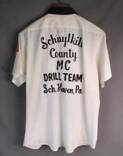 Vintage 70s Schuylkill County Motorcycle Mc Drlll Team Work Shirt L Sch.Haven,Pa