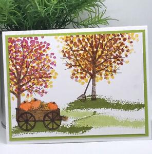 Stampin Up Card Kit Sheltering Tree Fall Pumpkins