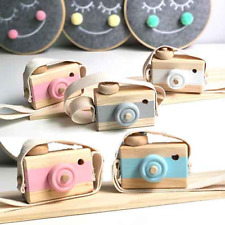 For Kids Wooden Cute Camera Baby Hanging Camera Photography Decoration Toy Play