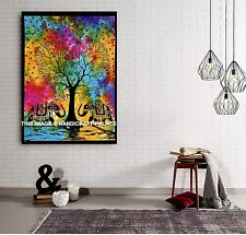 Indian Tie Dye Elephant Tree Of Life Wall Hanging Large Hippie Bohemian Tapestry