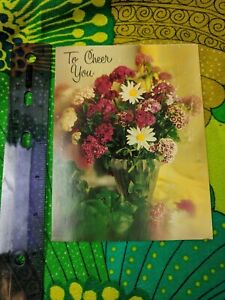 Unused Greeting Card To Cheer You Psalm 46:1 Flowers Sweet William