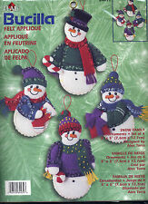 Bucilla SNOW FAMILY Snowman Felt Ornaments Kit DISCONTINUED OOP #84439