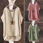 Fashion ZANZEA Women Summer Batwing Short Sleeve Blouse Casual Loose Tops Shirts