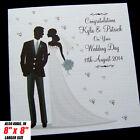 Luxury Personalised Handmade Wedding Day Congratulations Card