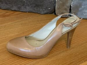 NEW Nine West Taupe Leather Pump LEFT Only Shoe High Heel