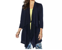 Slinky Brand Drape Front French Terry Knit Duster - Size M - Brand New in Pkg