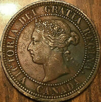 1882H CANADA LARGE CENT LARGE 1 CENT PENNY - Bent