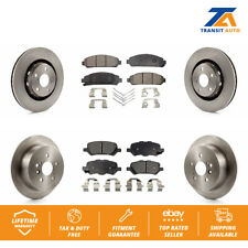 Front Rear Disc Rotors & Ceramic Brake Pads Fits 2009-2016 Toyota Venza