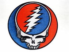 """GRATEFUL DEAD steal your face HUGE 8"""" IRON-ON BACK PATCH **FREE SHIPPING -p1218x"""