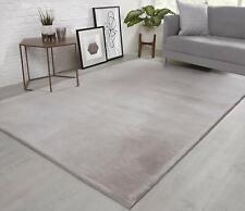 Natural Faux RABBIT FUR Rug Ultra Soft Wool Shaggy Thick Pile Rugs Carpet Mat