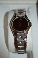 Movado Sport Edition 84 G4 1843 Women's Black Dial Stainless Steel Analog Watch