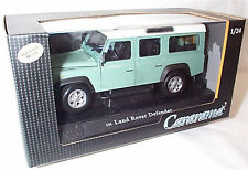 Land Rover Defender 110 LWB Green 1-24 scale new in Box Opening parts cararama