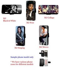 Michael Jackson Inspired collage leather wallet phone case for Samsung iPhone