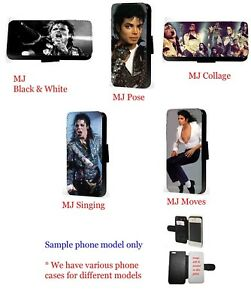Michael Jackson collage leather wallet phone case for Samsung iPhone