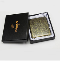 Vintage Metal Cigarette Case with Gift Box for 20pcs Pipe Accessories