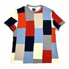 NEW Noah NY Men's Patchwork Pique Knit Color Block Core Logo Shirt M AUTHENTIC