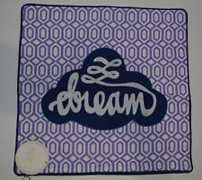 "Pottery Barn Teen Be Inspired Be Bright Dream Pillow Cover Purple 18"" #228"