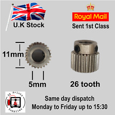 2pc 3D printer stainless steel drive gear - extruder drive gear 26 tooth
