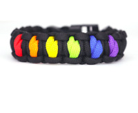 Paracord Rainbow Bracelets LGBT Gay Pride Rope Chain Fashion Handmade Jewelry