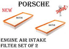 Engine Air Intake Filter SET Of 2 For Porsche 2011-2018 Cayenne Genuine