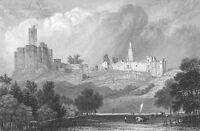 Northumberland WARKWORTH CASTLE Shakespeare King Henry 4th, 1871 Print Engraving