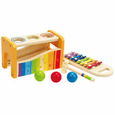 Hape Pound and Tap Bench with Slide Out Xylophone - E0305