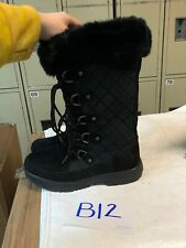 BEARPAW  Boots WOMENS SIZE 9 Black Mid-Calf Waterproof Insulated