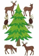 Winter Trees and Deer Pinecone Christmas Parcel Jolee's 3D Stickers