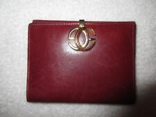 Vintage Gucci Burgundy Leather Wallet Iconic Interlocking G Logo Clasp Superb!