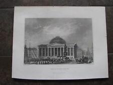 1834 ORIGINAL View of Customs House, Boston, Massachusetts