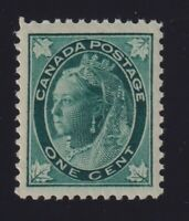 Canada Sc #67 (1897) 1c blue green Maple Leaf Mint VF NH MNH