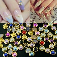 3D Nail Art Beads Tip Mixed Colors Rhinestones Decoration DIY Glitter 4mm 200pcs