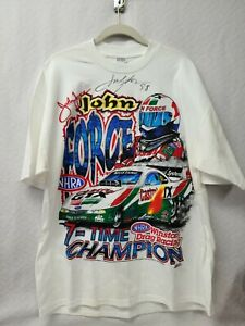 Autographed John Force T-shirt