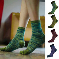 Men's Casual Five Fingers Toe Socks Breathable Retro Color Mixed Color Socks