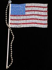 """MEMORIAL INDEPENDENCE DAY UNITED STATES USA PATRIOTIC FLAG PIN BROOCH JEWELRY 6"""""""