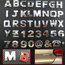 Car 3D Alphabet letter stickers Number Symbol Emblem Badge Decals A-Z 0-9