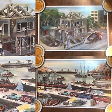 More details for oge hachette french double sided poster building site + docks